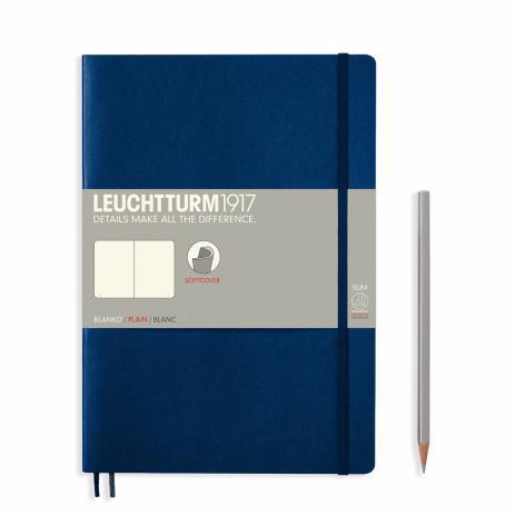 Leuchtturm Notizbuch Medium Softcover B5 blanco, marine