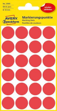 Avery Zweckform Markierungspunkt 18mm gelb