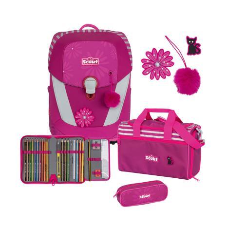 SCOUT Schulranzenset Sunny II Pretty Pink 4-teilig