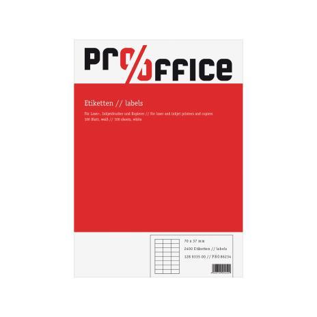 Pro/Office Universaletikett ohne umlaufenden Rand 52,5 x 21,2 mm