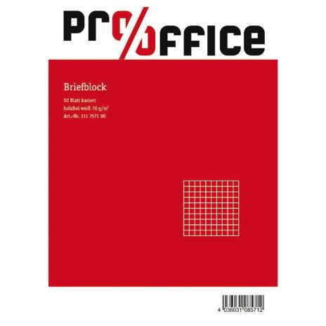 Pro/Office Briefblock A5 kariert