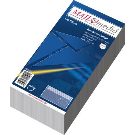 Lemppenau + Rössler-Kuvert Briefumschlag DIN lang SK weiß ohne Fenster