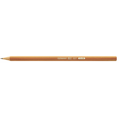 Bleistift aus naturbelassenem Holz 2H