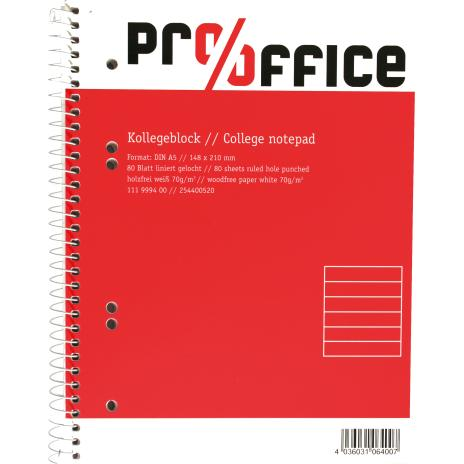 Pro/Office Collegeblock DIN A5 kariert