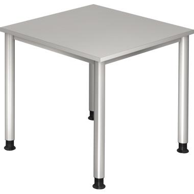 Hammerbacher Schreibtisch 80 cm breit grau