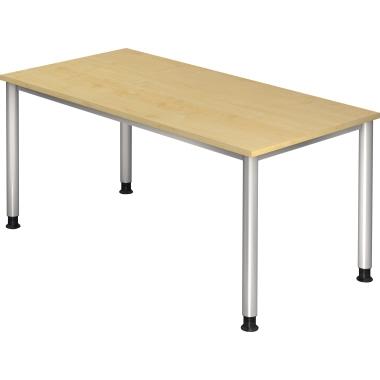 Hammerbacher Schreibtisch 160 cm breit grau