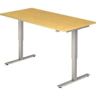 Hammerbacher Schreibtisch 160 x 72-119 x 80 cm eiche