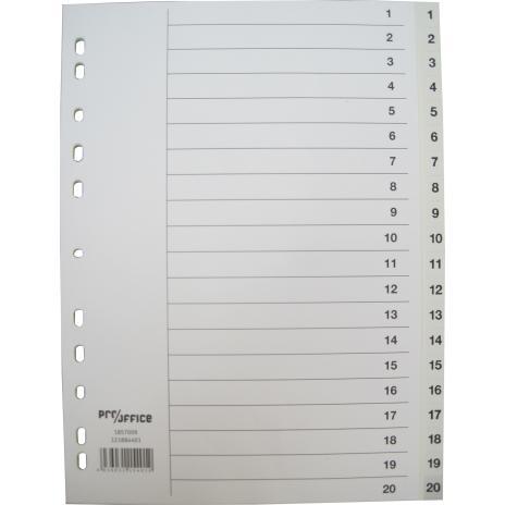 Pro/Office Zahlenregister 1-20