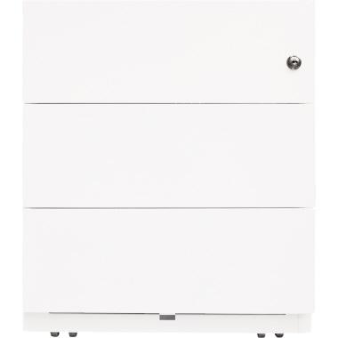 Bisley Rollcontainer Note™ 3 Schubfächer 42 x 49,5 x 56,5 cm verkehrsweiß
