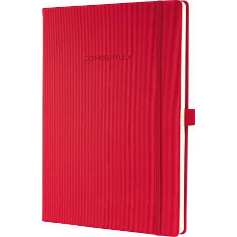 SIGEL Notizbuch CONCEPTUM® Hardcover DIN A4 kariert rot