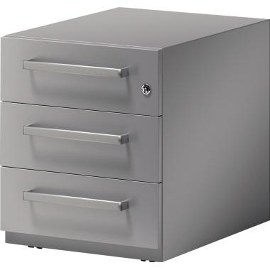 Bisley Rollcontainer Note™ 42 x 49,5 x 77,5 cm 3 Schubfächer anthrazit