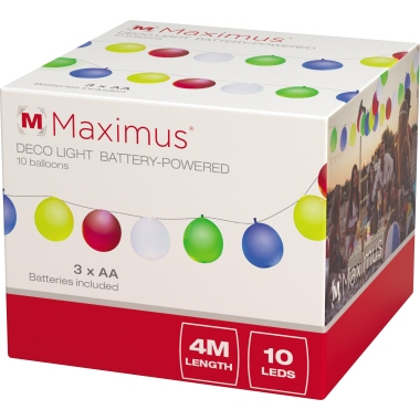 MAXIMUS Ballon Lichterkette LED farbig