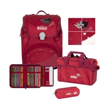 SCOUT Schulranzenset Alpha 74420247100 Premium Red Prince
