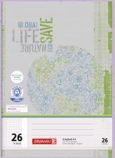 BRUNNEN Schulheft A4 Recycling-Papier kariert mit Rand