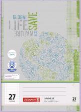 Schulheft DIN A4, Lineatur 27, Recycling-Papier, liniert, 16 Blatt