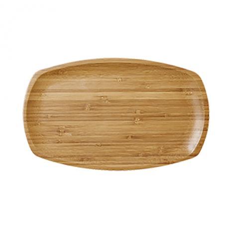 Rice Teller rechteckig Bambus