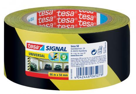 tesa® Signalklebeband Universal gelb, schwarz