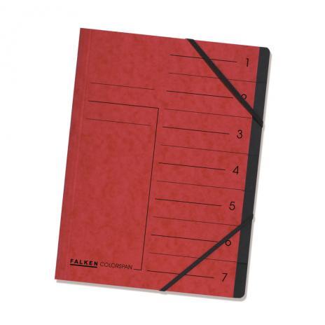 Falken Ordnungsmappe 7 Fächer rot