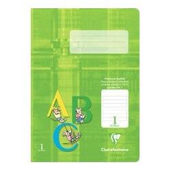 Schulheft DIN A5, Lineatur 1, grün hinterlegt, 16 Blatt