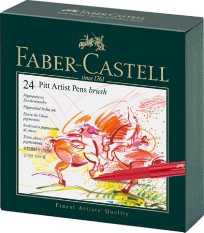 Tuschestift PITT® ARTIST PEN, Spitze: Brush, 24er Atelierbox