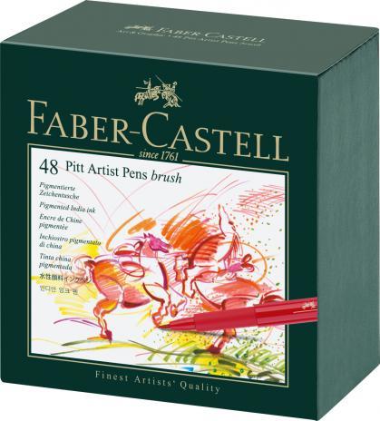 Tuschestift PITT® ARTIST PEN, Spitze: Brush, 48er Atelierbox