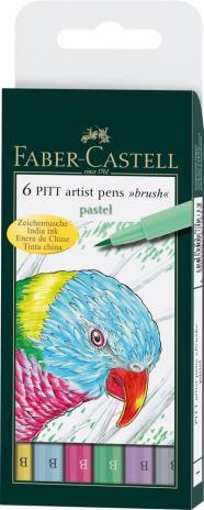 Tuschezeichner PITT ARTIST PEN Pastel, sortiert im 6er Etui
