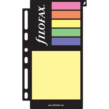 Filofax Haftnotizeneinlage farbig sortiert