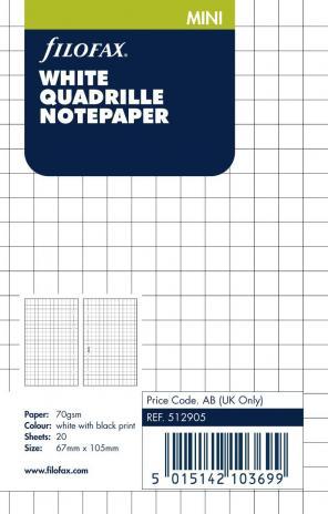 Filofax Karopapier 5mm MINI