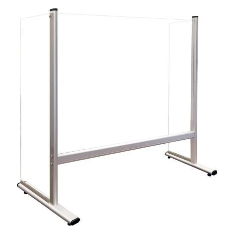 Trennwand / Spuck- und Niesschutz Acrylglas, mit Seitenteilen 800 x 650 mm (B x H)