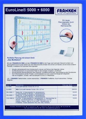 Franken Dokumentenhalter Frame It X-tra! Line DIN A4 blau