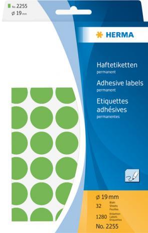 HERMA Markierungspunkt 19mm, Großpackung, grün