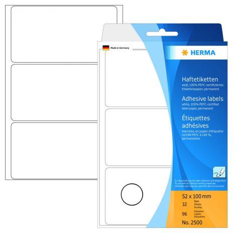 HERMA Universaletikett weiß, 52 x 100 mm