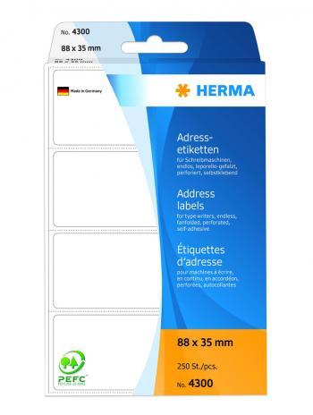 HERMA Adressetikett leporello-gefalzt, weiß, 67 x 35 mm