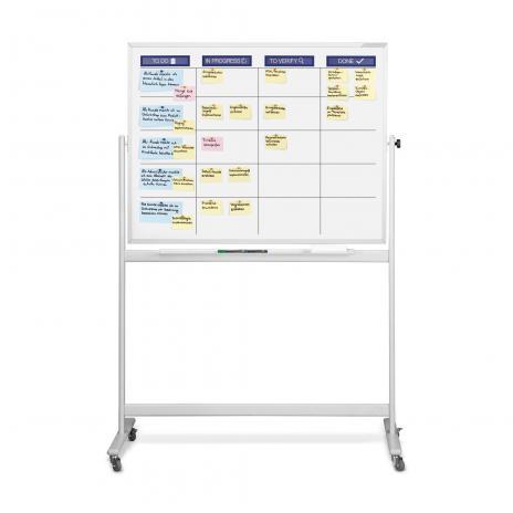 magnetoplan® Whiteboard mobil Scrum Board XL mit Zubehörset