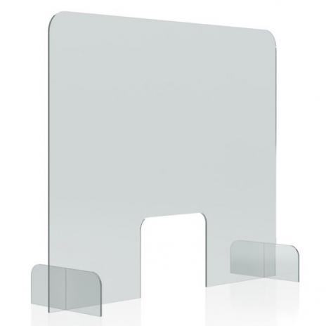 magnetoplan® Nies- und Spuckschutz, Acryl Tischaufsteller 500 x 850 mm (B x H)
