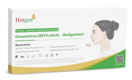 HOTGEN Novel Coronavirus 2019-nCoV Antigen Test mit Laienzulassung