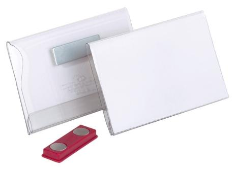 DURABLE Namensschild mit Doppelmagnet 75 x 40 mm (B x H)