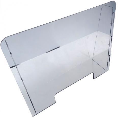 Thekenaufsatz / Virenschutz aus Plexiglas®XT 1000 x 700 mm (B x H)
