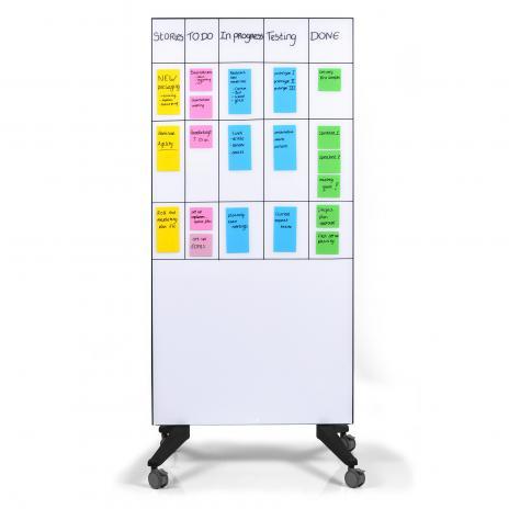 Legamaster mobiles Glasboard weiß 195 x 95 cm (BxH gesamt)