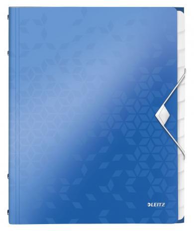 Leitz Ordnungsmappe WOW 12 Fächer metallic blau, metallic