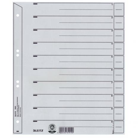 Leitz Trennblatt hinterklebt 100er Pack grau