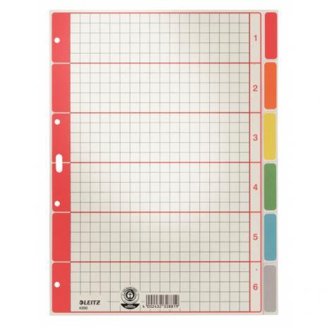 Leitz Ordnerregister DIN A4 Karton