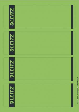 Leitz Ordnerrückenetikett SK breit/kurz 100 Etik./Pack. PC grau