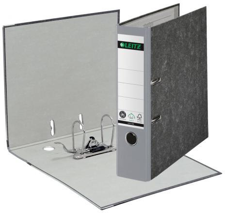 Leitz Ordner DIN A4, 80 mm breit in Hartpappe grau