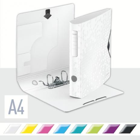 Leitz Ordner Active WOW 65 mm metallic weiß