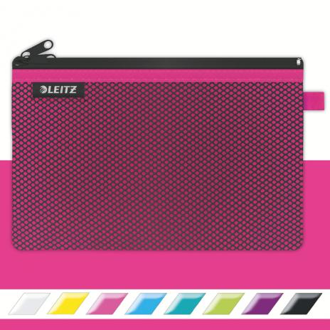 Leitz Reißverschlusstasche WOW Traveller 23 x 15 cm pink