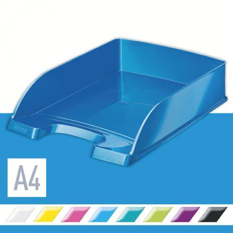 Leitz Briefablage WOW einfarbig eisblau, metallic