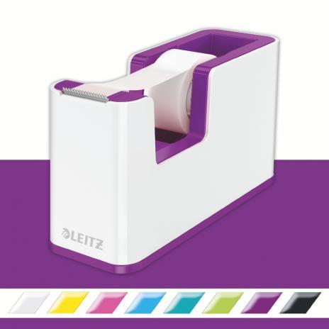 Leitz Klebeband Tischabroller WOW Duo Colour violett, weiß