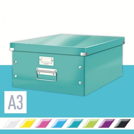 Leitz Aufbewahrungsbox Click & Store 36,9 x 20 x 48,2 (A3) pink