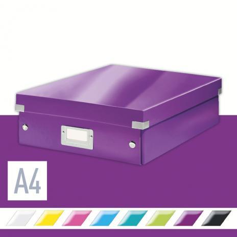 Leitz Aufbewahrungsbox Click & Store WOW 28 x 10 x 37 cm blau